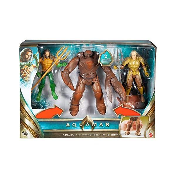 JUSTICE LEAGUE- Pack de 3 Figuras Aquaman, Multicolor, 15 cm (Mattel FWX38) 4