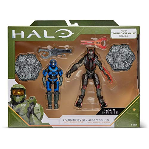 Halo Spartan Mk. V vs. Jega Rdomnai (4' Heroes and Villains Figures)