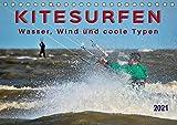Kitesurfen - Wasser, Wind und coole Typen (Tischkalender 2021 DIN A5 quer): Kitesurfing, ultimativer Funsport mit vielen begeisterten Anhängern. (Monatskalender, 14 Seiten ) (CALVENDO Sport)