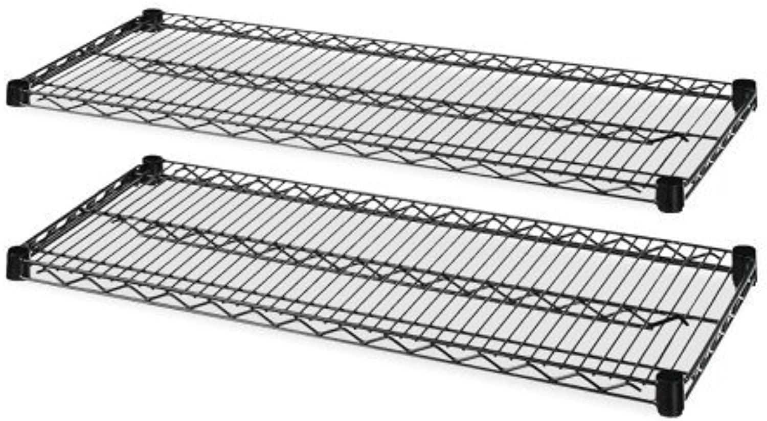 Lorell 2-Extra Shelves for Wire Shelving, 48 by 18 by 72-Inch, Black 2 box