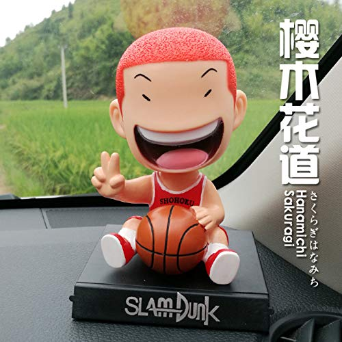 newolfend Anime Slam Dunk Bobble Head Hanamichi Sakuragi Y Rukawa Kaede PVC Action Figure Collectible Model Toys 12cm 12cm Un