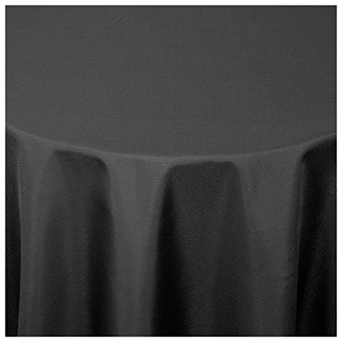 MODERNO® Textil Tischdecke Uni Design | oval 160x220 cm in Schwarz Damast | Eckig Oval Rund Größe und Farbe wählbar