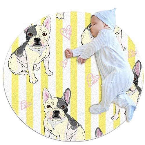 Weiche, zottige Teppiche Hundeliebstreifen für Kinderzimmer Schlafzimmer Boden Baby flauschige Teppiche Anti-Rutsch-Wohnkultur Teppiche 80cm