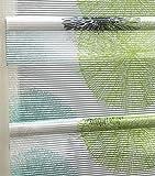 Clever-Kauf-24 Magnetrollo Rawlins grün inkl. Haken | Raffrollo mit Magnetraffung | Gardine ohne Bohren Montage direkt am Fenster (BxH 60x130cm) - 2