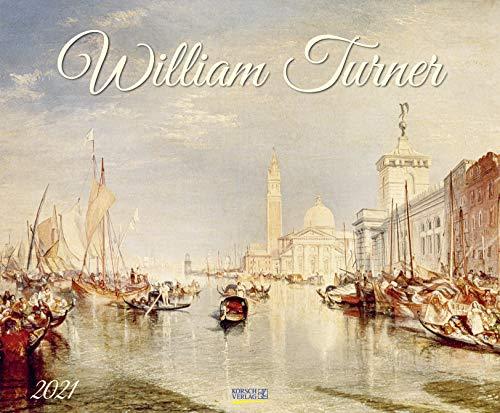 William Turner 2021: Kunstkalender, großer Wandkalender, Abstrakter Impressionismus. Querformat: 55x45,5 cm