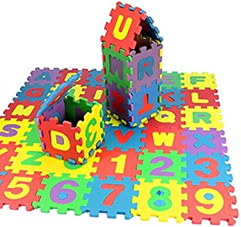 36pcs Play mat,Kids Foam Puzzle Floor Play Mat with Colors or Numbers & Alphabets Exercise Flooring Mat for Children & Toddlers,Shipping from USA FITOOM