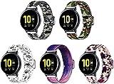 Lienzo Rápida Liberación Reloj de Reemplazo Banda Compatible con Garmin Vivoactive 4, Correas de los Hombres de Las Mujeres...