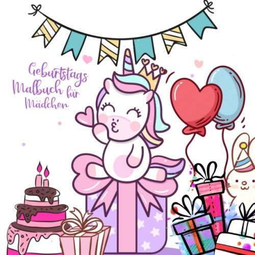 Geburtstags Malbuch für Mädchen: Malbuch für Mädchen von 7 -10 Jahren | Mädchenbuch | Geschenkidee Geburtstagsgeschenk | Erinnerungsalbum | personalisierbar | ca. 22,6x22,6 cm | 110 Seiten