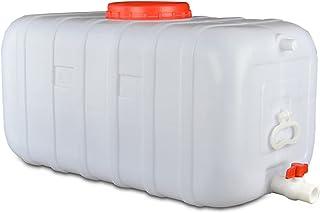 ZXD Seau en Plastique Blanc De Catégorie Comestible, Fermenteur Horizontal Épais De Réservoir d'eau De 150L avec Le Seau e...