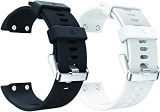 aczer-Y Compatible Replacement Band for Garmin Forerunner 35 Accessories Watchbands, 10 Color Replacement Watch Band with Stainless Buckle and Rubber Strap