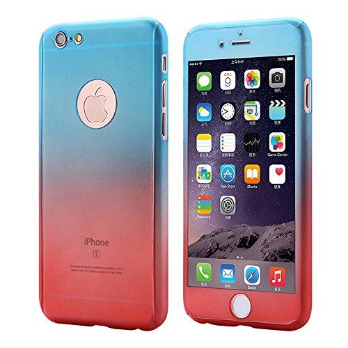 Funda de lujo de 360 grados para iPhone 6plus/iPhone 6S Plus de 5,5 pulgadas parte delantera trasera rígida de acrílico con película de vidrio templado