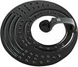 IRIS 2211N Tapa antisalpicadura Universal, Acero, Negro, 30 x 35.3 x 5 cm