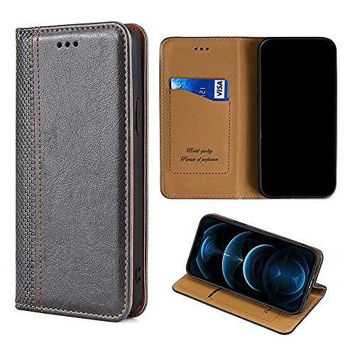Oujietong GKGW Flip Funda para LG H422 Spirit Funda Carcasa Case Cover [Gris]
