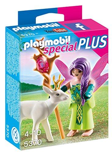 PLAYMOBIL- Special Plus Hada con Ciervo Playsets de Figuras de Juguete, Multicolor (5370)