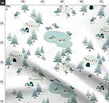 Schnee, Weihnachtsbaum, Papageientaucher, Eskimo, Eisbär,