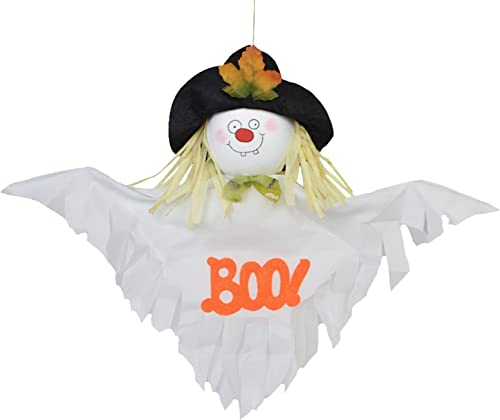 lowest RiamxwR Halloween Ghost Hanging Ornament, Home Garden Straw Ghost lowest Horror Pendant Decoration Windsock Pendant Scary Halloween high quality Ghost Bar Garden Party Decoration (White) outlet sale