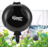 Hygger Quiet Mini Air Pump for Aquarium 1.5 Watt Oxygen Fish Air Pump for 1-15 Gallon Fish Tank with Accessories Black