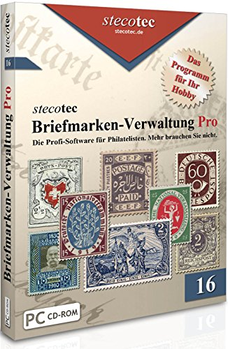 Briefmarken Software - Stecotec Briefmarken-Verwaltung Pro - Philatelie-Programm f. Sammler - Katalog - Datenbank