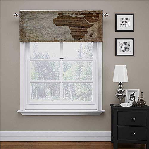 Cortina de ventana de color africano, tablón de madera Á