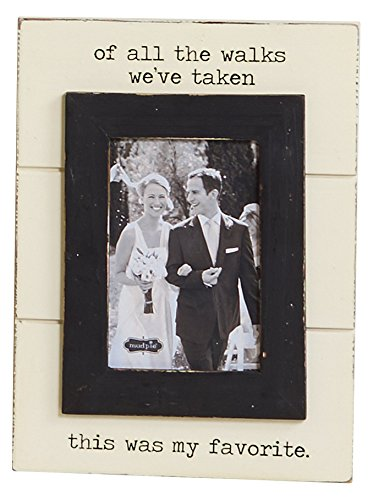 Mud Pie of All The Walks Wedding Picture Frame