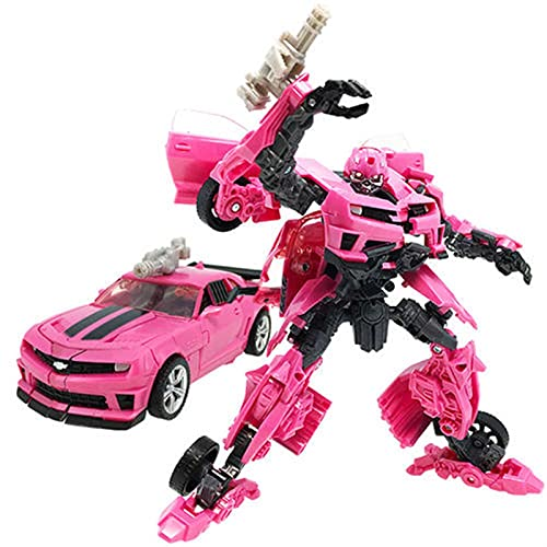 CZWNB Transformers Toys, WF. Trasformatori di Azione limitati MP-Ex. Deluxe Laserbeak Rosa Bumblebee Transformer Figure Model Toy,Regalo di Compleanno