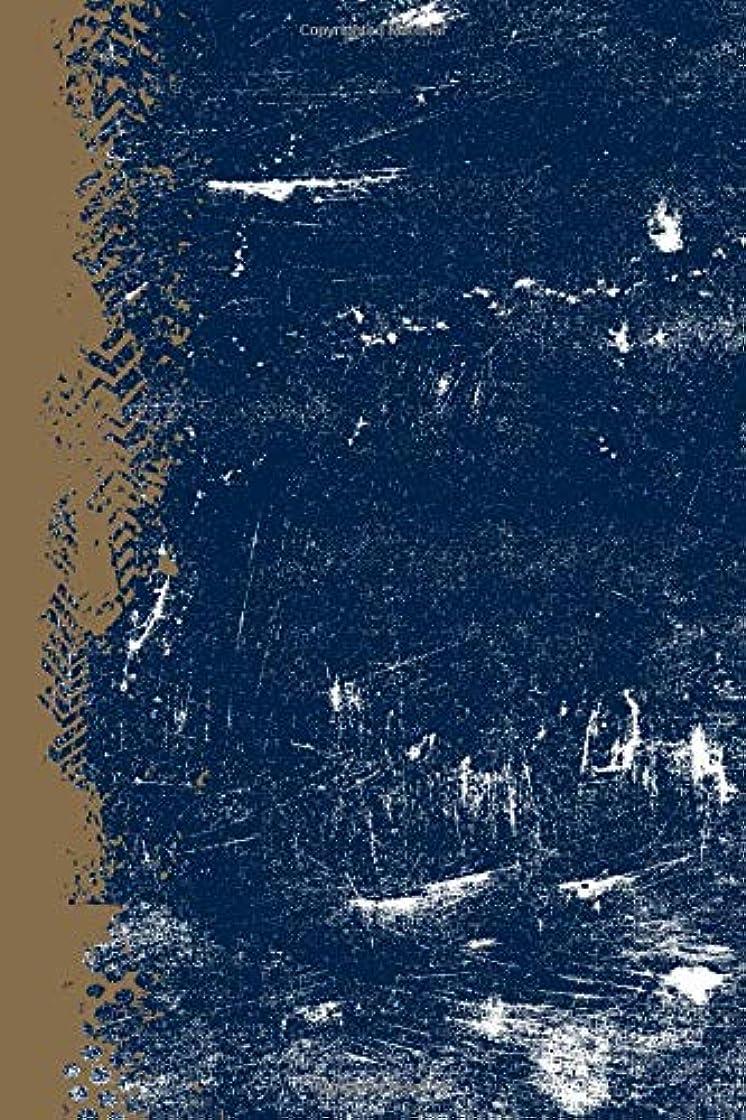 ネーピアチラチラするポルトガル語Blue Gold And White: (6 x 9 Lined) Blank Grunge Team Color Notebook College Ruled
