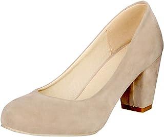 [Ywnz-eight] パンプス ローヒール スエード ポインテッドトゥ アーモンドトゥ パンプス ローヒール レディース 靴 大きいサイズ 小さいサイズ レディース ポインテッド 太ヒール 無地 シンプル 歩きやすい 結婚式 通勤 卒業式 美脚パンプス