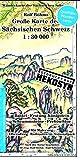 Große Karte der Sächsischen Schweiz 1:30000: Gedruckt auf HEKOSYN