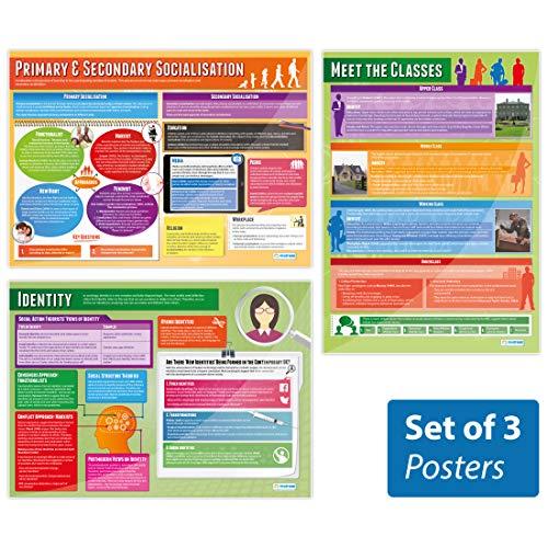 Kultur- und Identitäts-Poster – 3er-Set   Sociologie-Poster   laminiertes Glanzpapier mit den Maßen 850 mm x 594 mm (A1)   Sociology-Klasse-Poster   Bildungstabellen von Daydream Education