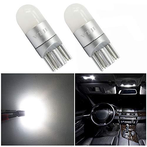 WLJH LED Lampadine Super Bright Pure White 12V 24V 3030 Chipset con proiezione a 360 Gradi per Auto Camion Moto Dome Lettura luci di parcheggio Sidemarker Luce Laterale T10 W5W, Pack 2