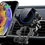Wireless Car Charger 15W Touch Sense Auto Clamping Car Mount Air Vent Phone Holder 360 Rotation Qi Fast Charger Stand fits iPhone 12/Xs/Xs Max/XR/X Samsung Galaxy S10/S9/S8 etc