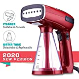 Busypiggy New Upgrade Handheld Steamer for Clothes, Mini Foldable Facial Steamer, 1200W Powerful Garment Steamer, 3 Steaming Modes, No Spitting, 25s Fast Heating up for Home and Travel