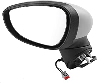 YUOKI99 Accessoire de Remplacement Durable ABS pour Couvercle de r/étroviseur ABS Gauche//Aile Droite Peint en Noir pour Ford Fiesta MK7 2008-2017 Droit