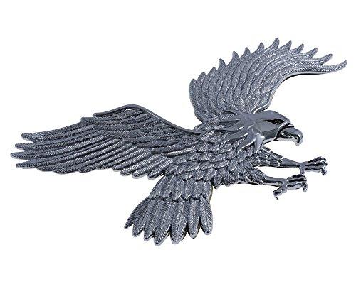 Adler mit weiten Flügeln Kunstoff in chrom 120 x 230 mm, Motorrad