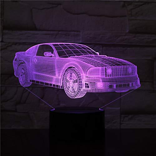 Modelauto 3D lamp optische illusie 3D kinderen nachtlampje 7 kleuren veranderende baby kinderkamer nachtlampje voor kinderkamer Home Decor