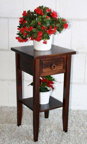 CASA Massivholz Beistelltisch Blumentisch Blumenhocker 60cm Holz massiv kolonial