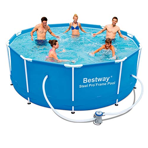 "Bestway 56334GS-03 Frame Pool ""Steel Pro\"" Set mit Filterpumpe, 305 x 100 cm"
