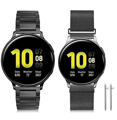 Younsea Correa Galaxy Watch Active 2, Correas de Acero Inoxidable de 20 mm con Liberación Rápida para Galaxy Watch 42mm / Gear S2 Classic/Gear Sport/Huawei Watch 2 / Forerunner 645