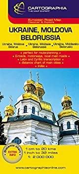 Mapa Cartographia Ucrania Moldavia y Bielorrusia  Mapas Cartographia   French Edition