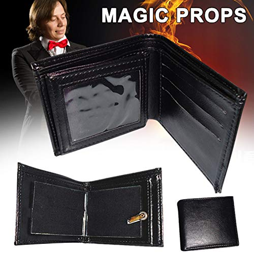 Dušial Magic Trick Fire Flaming Wallet Leather Street Shoe Close up Magic Props Wallet Purse Magic Prop