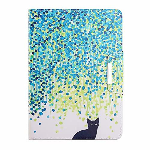 TTNAO Funda compatible con Samsung Galaxy Tab A 9.7 SM-T550 Funda de piel sintética con tapa y cierre magnético ligero, soporte antiarañazos, diseño de gato