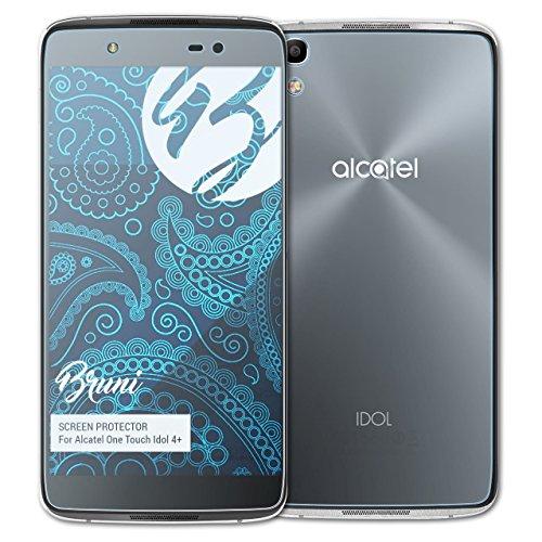 Bruni Schutzfolie kompatibel mit Alcatel One Touch Idol 4+ Folie, glasklare Bildschirmschutzfolie (2er Set)