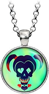 Suicide Squad Harley Quinn Pendant Necklace, DC Comics Jewelry, Justice League Earrings, Wedding Party, Geek Gift Geeky Gifts Nerd Nerdy Presents