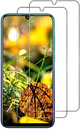 Pack of 2 Tempered Glass Screen Protectors Compatible with Huawei P Smart 2019 / Honor 20 Lite - Precision Engineered, Case Friendly, Touch Sensitive and Bubble Free Installation