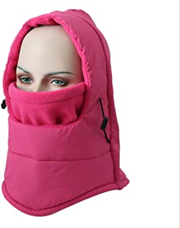 Hat Fashion Waterproof Unisex Balaclava Ski Face Mask Windproof Motorcycle Face Shield Breathable Neck Warmer for Winter Outdoors Cycling Snowboarding Hiking Fashion Accessories (Color : Fuchsia)