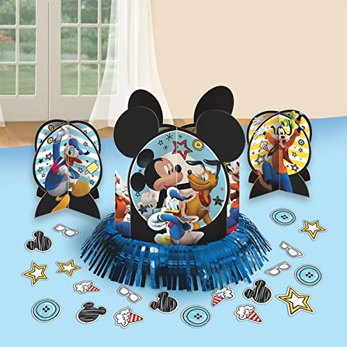 "Amscan DisneyMickey Mouse Birthday Party Assorted Table Decorating Kit (23 Pack), 12.5"", Multicolor"