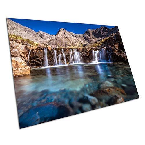 EAPoster Fairy Pools Glen Brittle Wasserfall Pools Isle of Skye Schottland Poster Druck – A4 = 29,7 x 21,1 cm