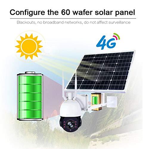 Preisvergleich Produktbild WSJS Drahtloser Überwachungskameramonitor der Sonnenenergie wasserdichtes im Freien 2 Million Pixel 4G 1080P HD 60W Sonnenkollektoren 32GB TF Kartenspeicher, 60W+1080P