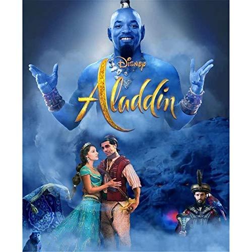 ZHONGYU DIY 5D Diamante Pintura película Aladino lámpara mágica Princesa Kit de Bordado, Punto de Cruz de Diamante Redondo, Regalo de decoración del hogar