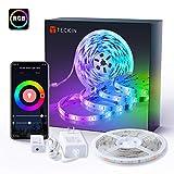 TECKIN Tiras LED RGB Wifi 5M 5050 SMD Tira de Luces Colores Inteligente funciona con Alexa Móvil Google Home,Multi-Modos para...
